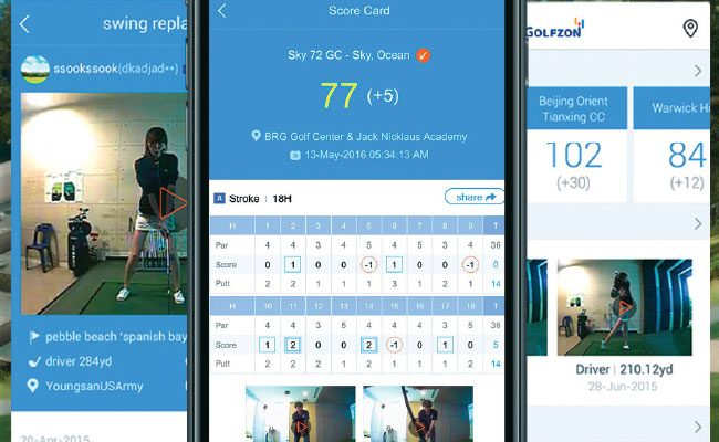 Golfzon Record Your Swing and Share It Online